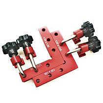 6pcs/set Woodworking Right Angle Positioning Clamps Auxiliary Positioner Corner Clamping Tools Aluminium Alloy Corner Ruler