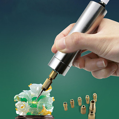 USB Charging Micro Electric Hand Drill Rotary Drill Cutting Drilling Set Mini Grinding for Sculpture Tools Wholesale 40set/lot