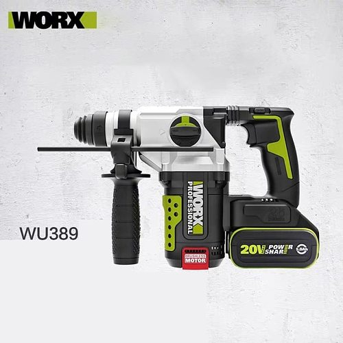WORX Electric Hammer WU389 Industrial Grade Multifunctional  Drill 20V Lithium Battery