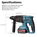 Multifunctional Rotary Electric Hammer 220V 3 in 1 Electric Demolition Hammer Impact Drill Punch Power Tools Electric Tools