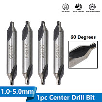 HSS Center Drills Bit 60 Degree Metal Drill Bit Power Tools Hole Drilling Hole Cutter 1.0/1.5/2.0/2.5/3.0/3.5/4.0/5.0mm