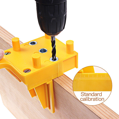 Woodworking Dowel Jig fits 6 8 10mm Drill Guide Metal Sleeve Wood Drilling Doweling Hole Saw Tools Handheld Jigs