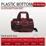 New Large Space Multi-Function Tool Bag Multi-Pocket Waterproof Anti-Fall Storage Bag 1680D Oxford Cloth Electrician Bag
