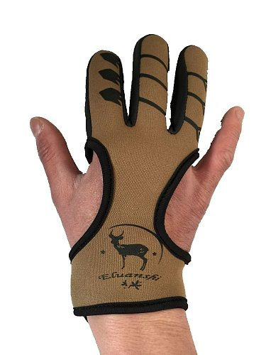 Protective 3 Fingers Hand Leather Black Guard Glove Safety Archery for Recurve Compound Bow Shooting crossbow slingshot hunting