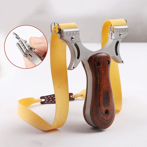 Powerful Slingshot Hunting High Quality Stainless steel Rubber Band Outdoor High Precision Shooting Slingshot