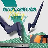 Craft Cutting Tools 360°Rotary Paper Jam Pattern Carving Knife Leather Fabric Fruit Sculpture Engraving Cutter Utility Knife(Free shipping)