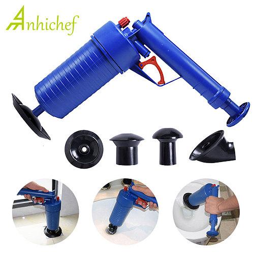 Air Power Drain Blaster Gun High-Pressure Powerful Manual Plunger Pipe Clog Dredger Remover Toilets Sink Bath Kitchen Cleaner