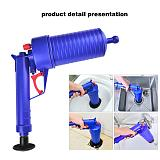 Air Power Drain Blaster Gun High Pressure Pipe Plunger Drain Cleaner Pump Pipeline Clogged Remover Bathroom Sink Toilet Cleaner
