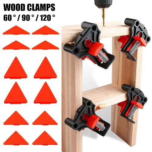 Free shipping,4pcs Wood Angle Clamps 60/90/120 Degrees Woodworking Corner ClampRight Clips DIY Fixture Hand Tool Set for Taper,T Joints,Plate
