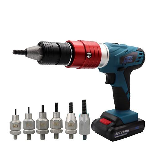 Electric Threaded Rivet Nut Guns 21V Electrical Insert Riveter Riveting Rivnut Tool for M3 M4 M5 M6 M8 M10 Nut