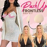 Deep Plunge Bra Kit Push Up Frontless Bra Backless Strapless Frontless Bra Thin Gather Nipple Covers Patch Underwear Accessorie(Free shipping)