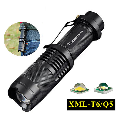 T6 Q5 flashlight 3000ML Zoomable Tactical Flashlight waterproof led torch lanterna flash