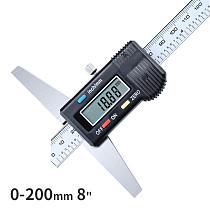 Syntek 0-200mm 8  Standard Digital Depth Vernier Caliper Micrometer Stainless Steel Electronic Digital Depth Gauge 200mm CE SGS