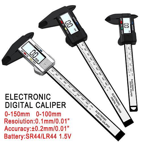 0-150mm digital display plastic Vernier caliper measuring Student Mini tool ruler