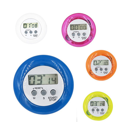 High Quality  Multi Plastic Kitchen timer Round Electronic Timer Kitchen Countdown Timers  Alarm  Random Color Kitchen Timer 20%