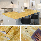 Waterproof Marble Self Adhesive Wallpaper Vinyl Film Wall Stickers Bathroom Kitchen Cupboard Room Decoration Sticky Paper Decal