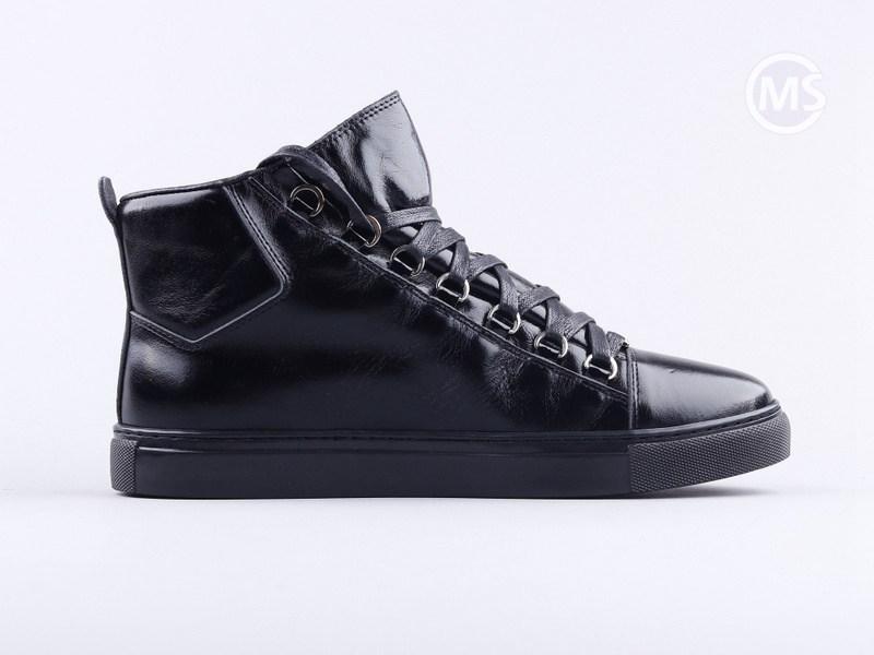 Balenciaga Area High Black Leather