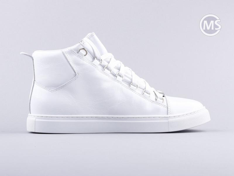 Balenciaga Area High White Leather