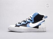 Sacai X Nike Blazer White Black Blue
