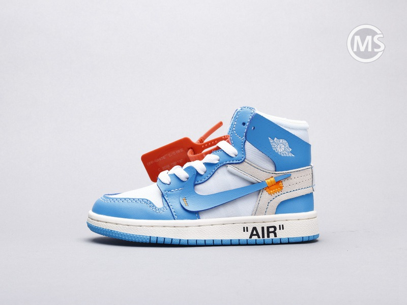 Kids OFF-WHITE Air Jordan 1 UNC