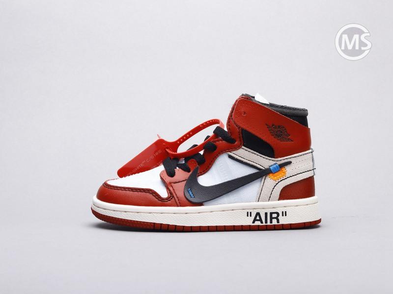 Kids OFF-WHITE Air Jordan 1 Chicago
