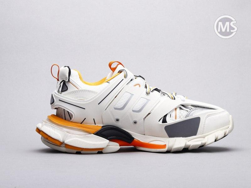 Balenciaga Led Track Trainers Orange