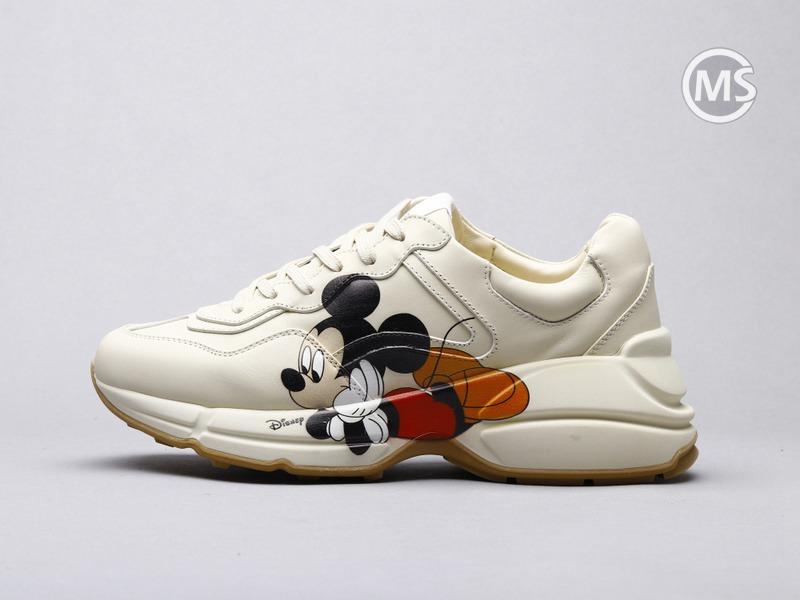Gisney x Gucci Rhyton Ivory Sneaker