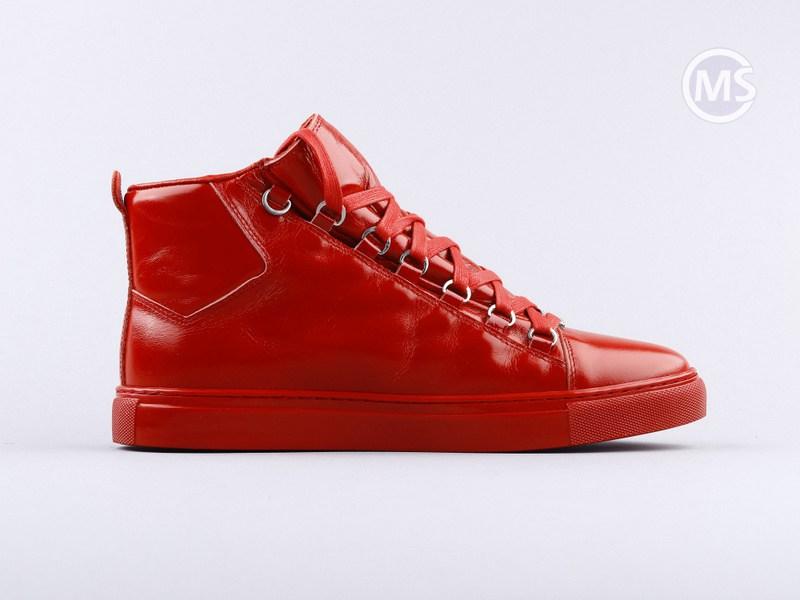 Balenciaga Area High Red Leather