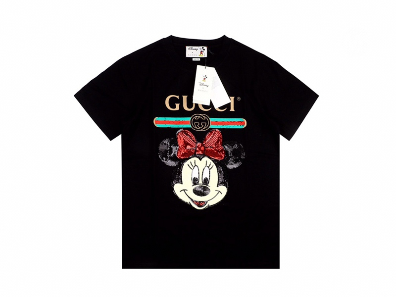 Disney x Gucci Oversized T-shirts Black