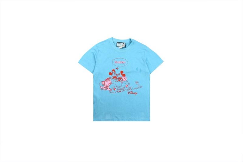 Disney x Gucci Oversized T-shirts Blue
