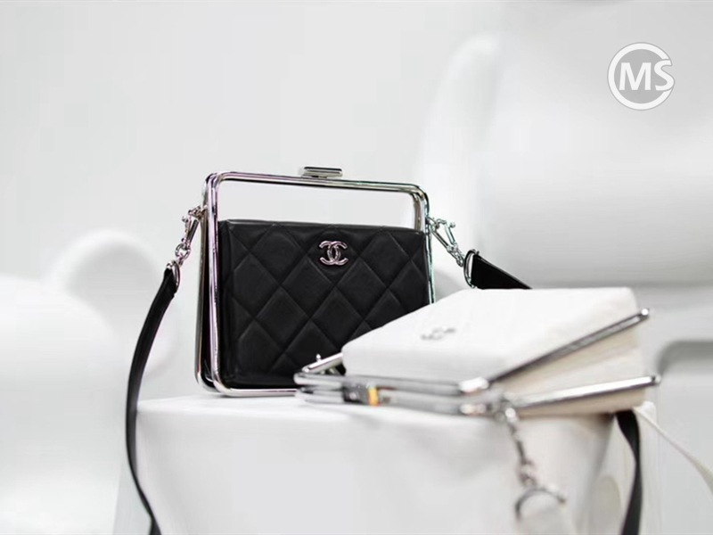 Chanel Evening Bag Black and White
