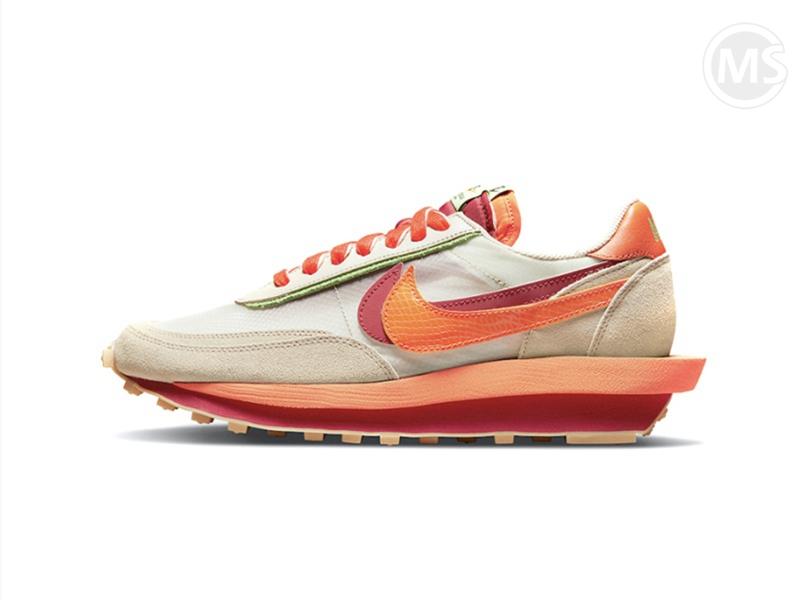 CLOT x Sacai x Nike Waffle  Orange Blaze