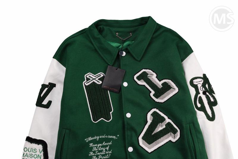 LV x NBA Varsity Leather Jacket