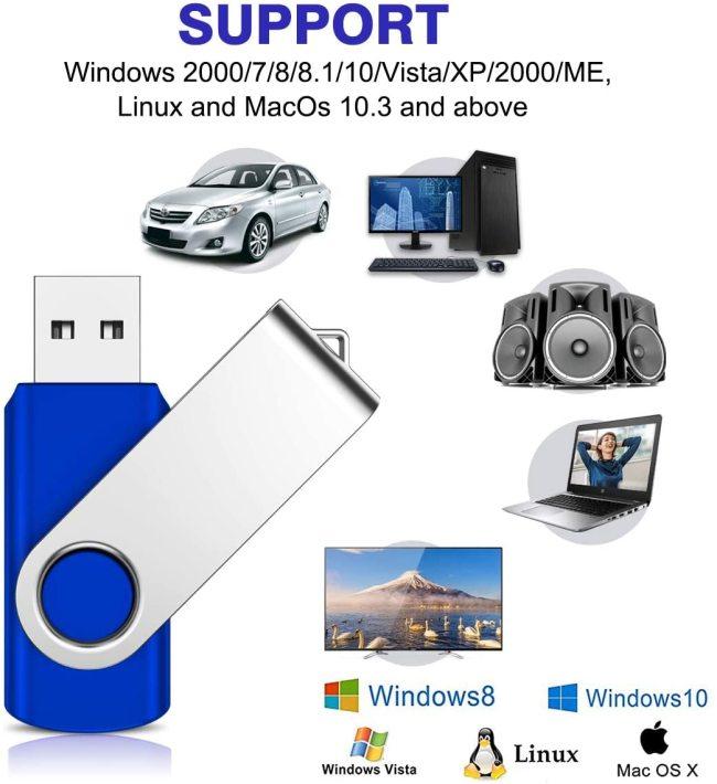 8GB Swivel USB Flash Drive