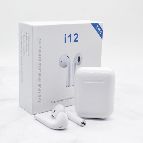 i12 V5.0 TWS stereo earbuds i12 tws earphone i12 headphone with charging case wireless charging TWS