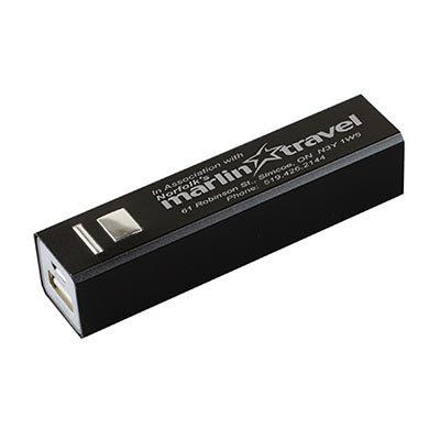Portable Aluminum alloy case Tube Shape Power Bank Charger