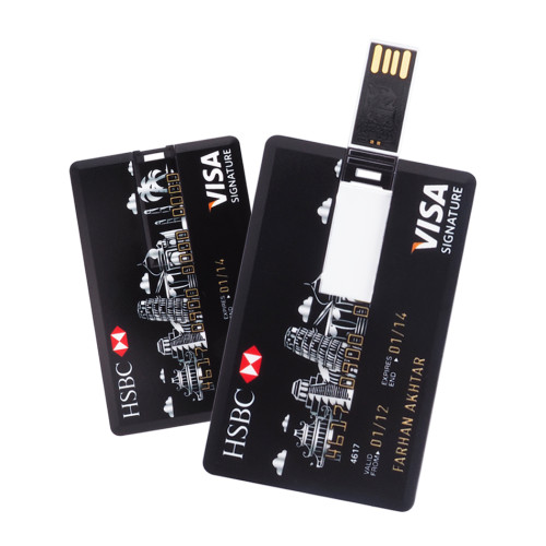 Full Side Color Printing  Credit Card Usb Flash Drive 4GB 8GB 16GB 32GB-JUST SEND US PHOTO