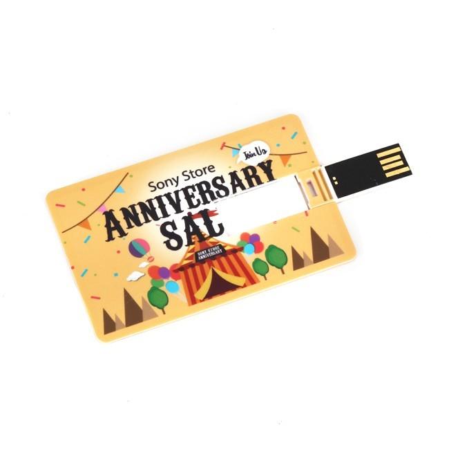Full Side Color Printing  Credit Card Usb Flash Drive 4GB 8GB 16GB 32GB-JUST SEND US PHOTO