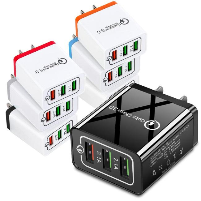 3-port USB WALL Qualcomm 3.0 quick charger