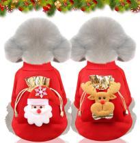 Christmas Dog Clothes with bag