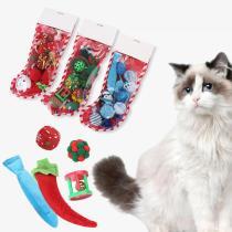 Cat Christmas Toy Set