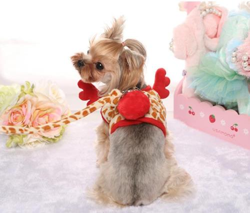 Wholesale Christmas reindeer design dog harness