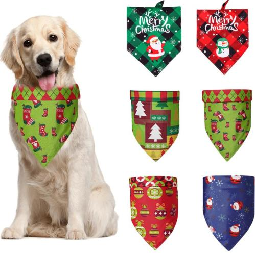 Wholesale Pet Dog Christmas Halloween Bandana Scarf