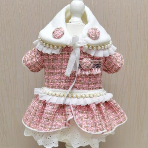 Wholesale  Small Dog Dress with Collar and Hat