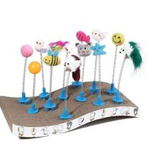 Wholesale  Corrugated cat scratcher with spring toy