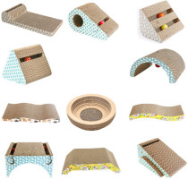 Wholesale  custom design corrugated cat scratcher