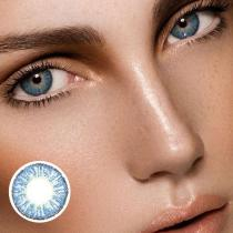 Marble Flowery Blue Yearly Colored Contacts
