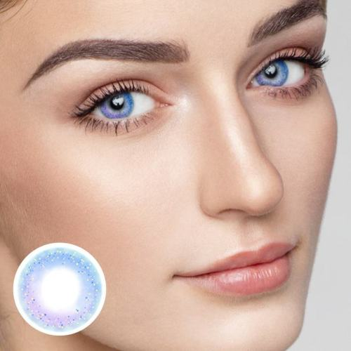 Rainbow Neon Blue Yearly Colored Contacts