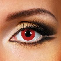 Pure Red Yearly Colored Contacts