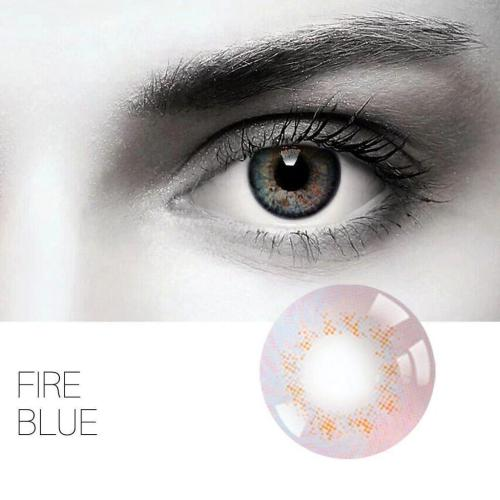 Fire Blue Yearly Colored Contacts